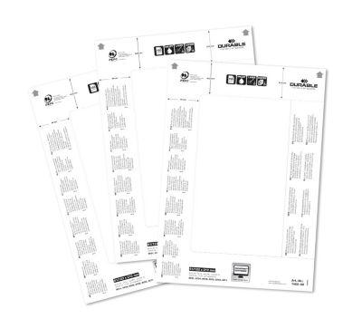 Ersatzkarten für Tischschild - für HxB 61/122 x 210 mm VE 100