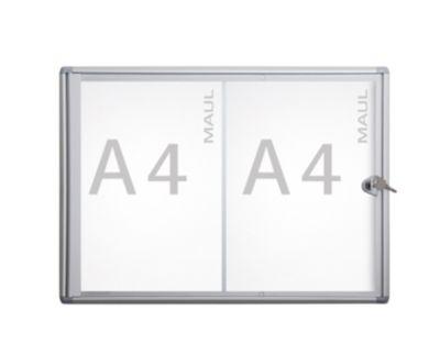 Schaukasten, Außentiefe 27 mm - Außenhöhe 350 mm, 2 x DIN A4