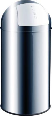Push-Abfallbehälter - Volumen 50 l, Edelstahl