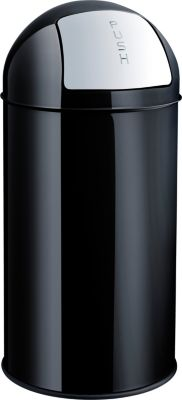 Push-Abfallbehälter - Volumen 50 l, schwarz