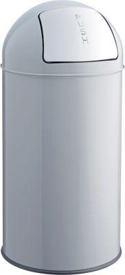 Push-Abfallbehälter - Volumen 50 l, mittelgrau
