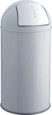Push-Abfallbehälter - Volumen 30 l, mittelgrau