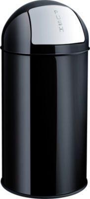 Push-Abfallbehälter - Volumen 30 l, schwarz