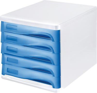 Schubladenbox - Gehäusefarbe Weiß, VE 4 Stk, Schubladenfarbe