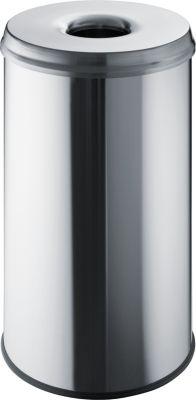Sicherheits-Abfallbehälter - Volumen 50 l, VE 2 Stk, Edelstahl