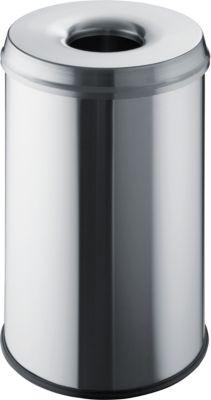 Sicherheits-Abfallbehälter - Volumen 30 l, VE 2 Stk, Edelstahl