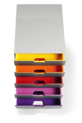 Schubladen-Box - HxBxT 292 x 280 x 356 mm, grau, 5 Schubladen