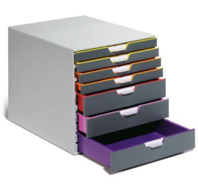 Schubladen-Box - HxBxT 292 x 280 x 356 mm, grau, 7 Schubladen