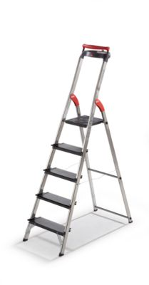 Schwerlast-Sicherheitsleiter - belastbar bis 225 kg, 5 Stufen inkl