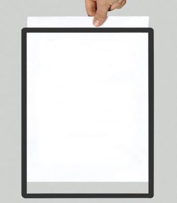 Rahmen mit Klarsichtfolie - Papierformat A4, VE 10 Stk, schwarz