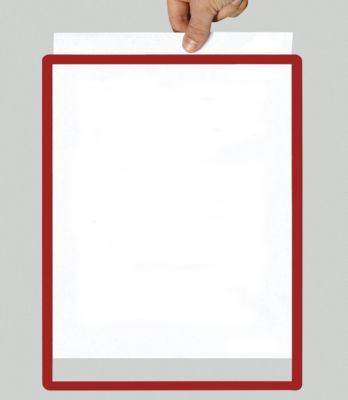 Rahmen mit Klarsichtfolie - Papierformat A5, VE 10 Stk, rot