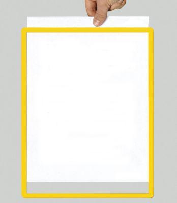 Rahmen mit Klarsichtfolie - Papierformat A3, VE 10 Stk, gelb