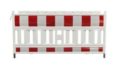 Absperrgitter, Kunststoff mit reflektierender Folie - weiß / rot ab 1