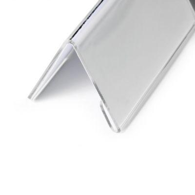 Tischnamensschild aus Acryl - Dachform, HxB 52/104 x 100 mm VE