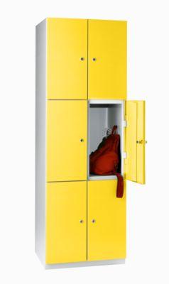 Stahlspind, Z-Schrank - 2 Abteile, Türen zinkgelb