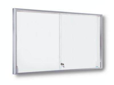 office akktiv Schaukasten, Alu-Rahmen, Schiebetüren - 21 x DIN A4,