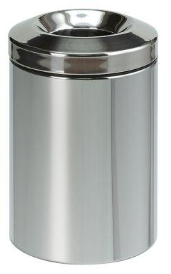 Papierkorb, selbstlöschend, Inhalt 15 l, Höhe 380 mm, Edelstahl -