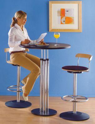 Bistro-Tisch - Tischplatte aus Werzalit, Ø 800 mm Höhe 1100 mm