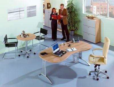office akktiv ANNY Besprechungstisch - rund, höhenverstellbar weiß