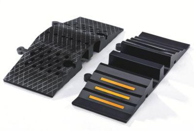 Schlauch- und Kabelbrücke - für Kabel bis 75 mm Ø, schwarz LxBxH 300 x