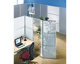 Ein flexibles Stellwandsystem bzw. Paravent-System mit ausgeklügelter Steckverbindung und Fixierverbindung.