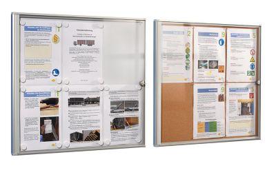 office akktiv Infokasten für Innen - Metallrückwand 1 DIN A4-Blatt,