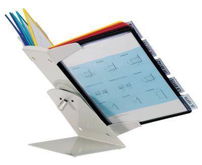 Tisch- und Wandhalter, Komplett-Set - 10 Klarsichttafeln DIN A4 farbig