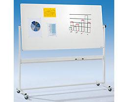 Fahrbare Stativ-Drehtafel mit Whiteboard und vier Lenkrollen bei Certeo.de