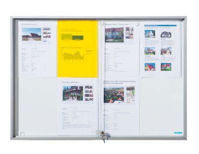 office akktiv – Schaukasten mit Schiebetüren - Außen-BxHxT 1566 x 947 x 50 mm