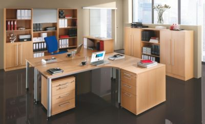 VIOLA Freiformtisch - HxBxT 760 x 2000 x 1200 mm lichtgrau