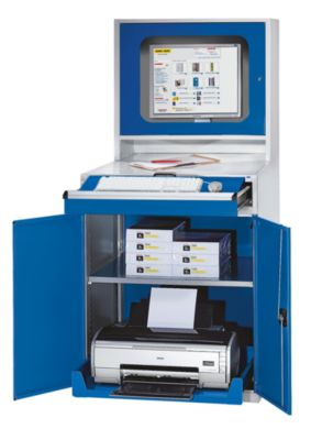 Computerschrank - HxBxT 1600 x 800 x 695 mm mit breitem Auszug