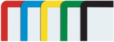 Rahmen mit Klarsichtfolie - Papierformat A5, VE 10 Stk, farbig
