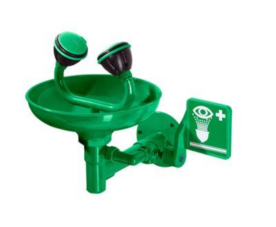 Augendusche - mit Becken und 2 Brauseköpfen, Farbe Grün
