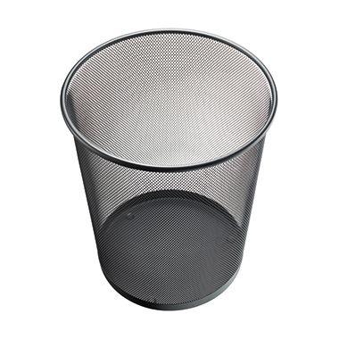 Papierkorb Mesh H2518500 26,5x28cm 15l rund Metall silber -