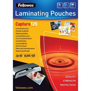 Fellowes Laminierfolie Capture 125 5309302 DIN A2 125mic 50 St./Pack.