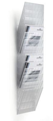 Wandprospektspender - Hochformat, 12 x DIN A4, VE 2 Stk
