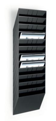 Wandprospektspender - Querformat, 12 x DIN A4, VE 2 Stk