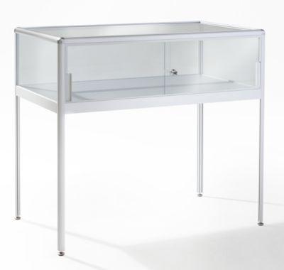 office akktiv Tischvitrine - mit Schiebetüren Breite 1000 mm, 2