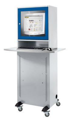 Computerschrank - mit melaminharzbeschichteter Arbeitsplatte,