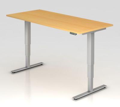 UPLINER-2.0 Stehschreibtisch - T-Fuß-Gestell, Breite 1800 mm Dekor