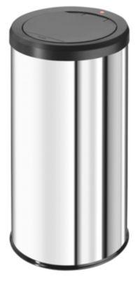 Touch-Abfallsammler Edelstahl - Inhalt 45 l, mit Müllklemmring,
