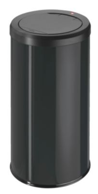 Touch-Abfallsammler - Inhalt 45 l, mit Müllklemmring, schwarz