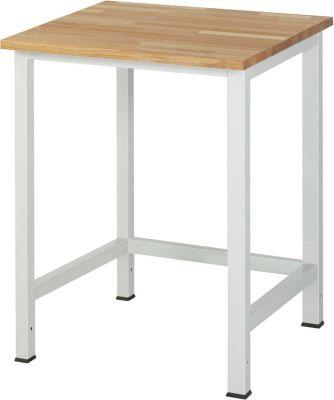 Werktisch, höhenverstellbar - Buche-Platte, Breite 750 mm