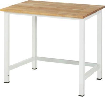 Werktisch, höhenverstellbar - Buche-Platte, Breite 1000 mm