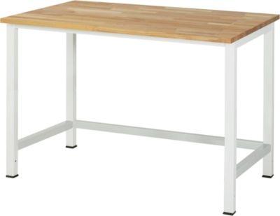 Werktisch, höhenverstellbar - Buche-Platte, Breite 1250 mm