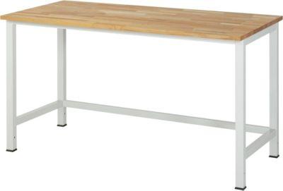Werktisch, höhenverstellbar - Buche-Platte, Breite 1500 mm