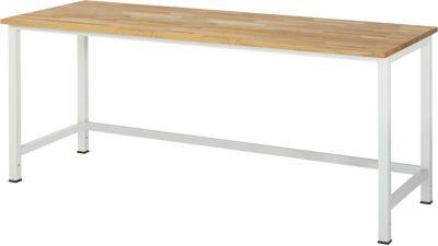 Werktisch, höhenverstellbar - Buche-Platte, Breite 2000 mm