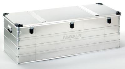 Aluminiumbehälter mit Stapelecken - Inhalt 400 l, LxBxH 1532