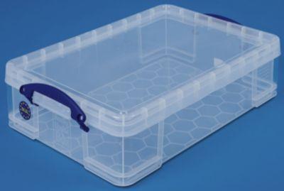 REALLY USEFUL BOX, inkl. Deckel - transparent, LxBxH 600 x 400 x 155