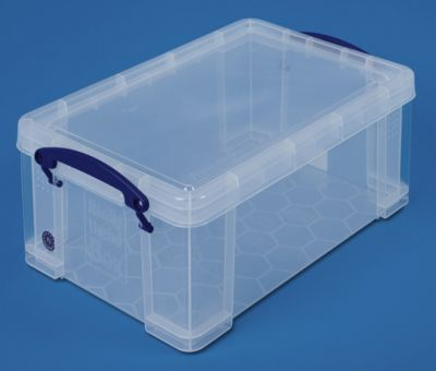 REALLY USEFUL BOX, inkl. Deckel - transparent, LxBxH 395 x 255 x 155
